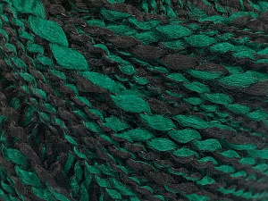 Fiber Content 90% Acrylic, 10% Polyamide, Brand ICE, Green, Black, Yarn Thickness 2 Fine  Sport, Baby, fnt2-57600