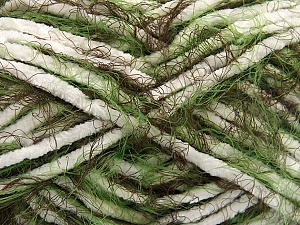 Fiber Content 70% Micro Fiber, 30% Polyamide, White, Brand ICE, Green, Brown, Yarn Thickness 5 Bulky  Chunky, Craft, Rug, fnt2-57613