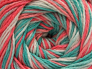 Fiber Content 100% Acrylic, White, Salmon Shades, Mint Green, Brand ICE, Yarn Thickness 3 Light  DK, Light, Worsted, fnt2-57745
