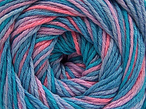 Fiber Content 100% Acrylic, Turquoise Shades, Salmon, Lilac, Brand ICE, Yarn Thickness 3 Light  DK, Light, Worsted, fnt2-57749