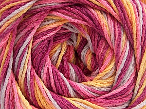 Fiber Content 100% Acrylic, Yellow, Pink, Orchid, Lilac, Brand ICE, Yarn Thickness 3 Light  DK, Light, Worsted, fnt2-57753