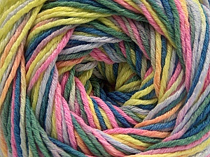 Fiber Content 100% Acrylic, Pink, Neon Yellow, Lilac, Khaki, Brand ICE, Blue, Yarn Thickness 3 Light  DK, Light, Worsted, fnt2-57756