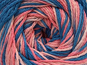 Fiber Content 100% Acrylic, Salmon Shades, Brand ICE, Blue Shades, Yarn Thickness 3 Light  DK, Light, Worsted, fnt2-57757