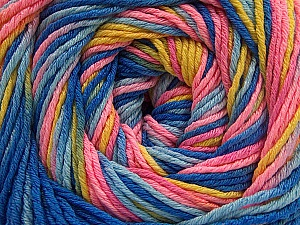 Fiber Content 100% Acrylic, Yellow, Pink Shades, Brand ICE, Blue Shades, Yarn Thickness 3 Light  DK, Light, Worsted, fnt2-57758