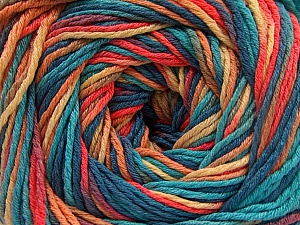 Fiberinnehåll 100% Akryl, Turquoise, Salmon, Jeans Blue, Brand ICE, Gold, fnt2-57765