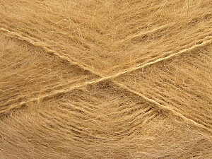 Fiber Content 70% Mohair, 30% Acrylic, Light Brown, Brand ICE, Yarn Thickness 5 Bulky  Chunky, Craft, Rug, fnt2-57794