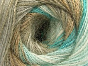 Fiber Content 75% Acrylic, 25% Angora, White, Turquoise, Brand ICE, Camel, Beige, Yarn Thickness 2 Fine  Sport, Baby, fnt2-57799