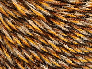 Fiber indhold 50% Akryl, 50% Uld, Brand ICE, Gold, Brown, Black, Beige, Yarn Thickness 3 Light  DK, Light, Worsted, fnt2-57866