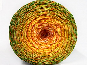 Fiber Content 50% Cotton, 50% Acrylic, Yellow, White, Orange, Brand ICE, Green Shades, Yarn Thickness 2 Fine  Sport, Baby, fnt2-57926