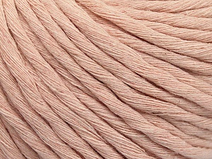 Fiber Content 100% Cotton, Brand ICE, Baby Pink, Yarn Thickness 5 Bulky  Chunky, Craft, Rug, fnt2-57944