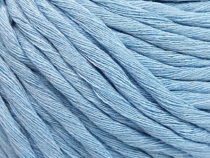 Fiber Content 100% Cotton, Brand ICE, Baby Blue, Yarn Thickness 5 Bulky  Chunky, Craft, Rug, fnt2-57945
