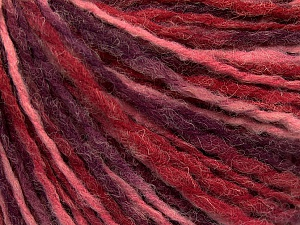 Fiber Content 80% Acrylic, 20% Wool, Purple, Pink Shades, Brand ICE, fnt2-57983