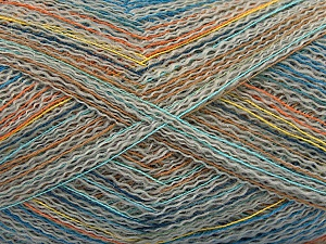 Fiber indhold 40% Polyamid, 40% Baby alpaka, 20% Bomuld, Yellow, Orange, Brand ICE, Grey, Blue, fnt2-57987