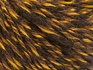 Fiber Content 50% Acrylic, 50% Wool, Yellow, Brand ICE, Brown Shades, fnt2-57995