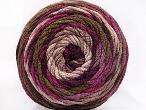 Fiber Content 100% Acrylic, Purple Shades, Brand ICE, Brown Shades, Yarn Thickness 4 Medium  Worsted, Afghan, Aran, fnt2-58027