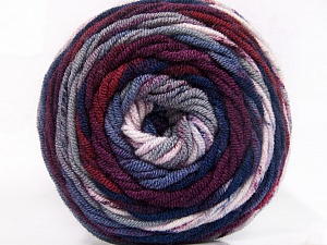 Fiber Content 100% Acrylic, Navy, Maroon, Lilac, Brand ICE, Grey, Yarn Thickness 4 Medium  Worsted, Afghan, Aran, fnt2-58029