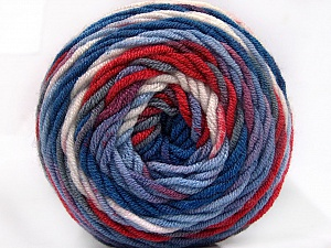 Fiber Content 100% Acrylic, White, Red, Brand ICE, Grey, Blue Shades, Yarn Thickness 4 Medium  Worsted, Afghan, Aran, fnt2-58030