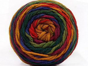 Fiberinnhold 100% Akryl, Red, Purple, Brand ICE, Green Shades, Gold, Yarn Thickness 4 Medium  Worsted, Afghan, Aran, fnt2-58033