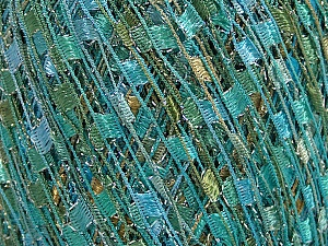 Trellis  Fiber Content 95% Polyester, 5% Lurex, White, Turquoise, Mint Green, Brand ICE, fnt2-58062