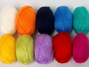 Please note that lengths are not equal for each lot. Fiber Content 100% Acrylic, Multicolor, Brand ICE, Yarn Thickness 1 SuperFine  Sock, Fingering, Baby, fnt2-58073