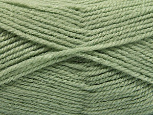 Fiber Content 50% Acrylic, 50% Wool, Light Green, Brand ICE, fnt2-58187