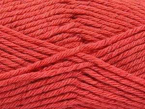 Fiber Content 72% Premium Acrylic, 3% Metallic Lurex, 25% Wool, Salmon, Brand ICE, Yarn Thickness 5 Bulky  Chunky, Craft, Rug, fnt2-58208