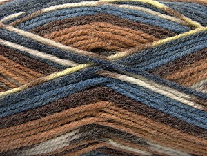 Fiber Content 50% Wool, 50% Acrylic, Brand ICE, Brown Shades, Blue Shades, fnt2-58277