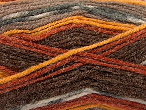 Fiber Content 50% Wool, 50% Acrylic, Brand ICE, Grey, Gold, Cream, Copper, Brown Shades, fnt2-58278