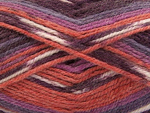 Fiber Content 50% Wool, 50% Acrylic, Maroon, Lilac Shades, Brand ICE, Cafe Latte, fnt2-58281