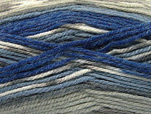 Fiber Content 50% Wool, 50% Acrylic, Brand ICE, Grey Shades, Blue Shades, fnt2-58284