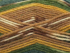 Fiber Content 50% Wool, 50% Acrylic, Brand ICE, Green Shades, Gold, Brown Shades, fnt2-58288