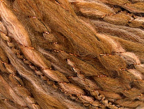 Fiber Content 40% Wool, 40% Acrylic, 2% Metallic Lurex, 18% Polyamide, Brand ICE, Copper, Brown Shades, fnt2-58312