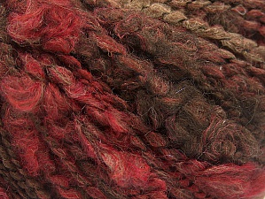 Fiber Content 50% Acrylic, 40% Wool, 10% Polyamide, Brand ICE, Burgundy, Brown Shades, fnt2-58353