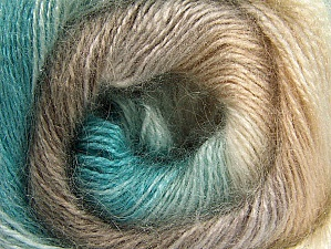 Fiber Content 50% Mohair, 50% Acrylic, Turquoise, Brand ICE, Cream, Camel, fnt2-58359