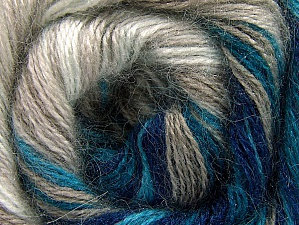 Fiber Content 50% Mohair, 50% Acrylic, White, Turquoise, Navy, Brand ICE, Beige, fnt2-58360