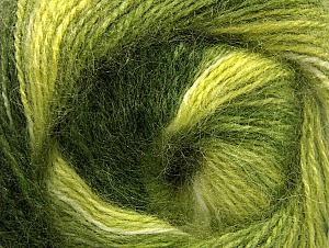 Fiber Content 50% Mohair, 50% Acrylic, Brand ICE, Green Shades, fnt2-58364