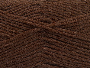 Fiber Content 50% Wool, 50% Acrylic, Brand ICE, Brown, Yarn Thickness 4 Medium  Worsted, Afghan, Aran, fnt2-58369