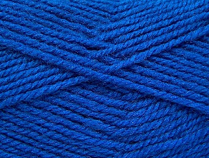 Fiber Content 50% Wool, 50% Acrylic, Brand ICE, Blue, Yarn Thickness 4 Medium  Worsted, Afghan, Aran, fnt2-58374
