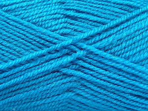 Fiber Content 50% Wool, 50% Acrylic, Turquoise, Brand ICE, Yarn Thickness 4 Medium  Worsted, Afghan, Aran, fnt2-58375