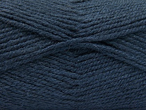 Fiber Content 50% Wool, 50% Acrylic, Navy, Brand ICE, Yarn Thickness 4 Medium  Worsted, Afghan, Aran, fnt2-58383