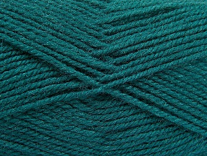 Fiber Content 50% Wool, 50% Acrylic, Teal, Brand ICE, Yarn Thickness 4 Medium  Worsted, Afghan, Aran, fnt2-58385