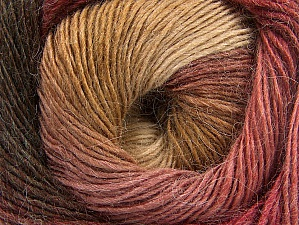 Fiber Content 60% Premium Acrylic, 20% Alpaca, 20% Wool, Brand ICE, Burgundy, Brown Shades, Yarn Thickness 2 Fine  Sport, Baby, fnt2-58418