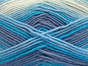 Fiber Content 75% Acrylic, 25% Wool, White, Lilac, Brand ICE, Blue, Yarn Thickness 3 Light  DK, Light, Worsted, fnt2-58424