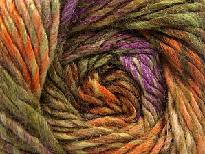Fiber Content 70% Wool, 30% Acrylic, Orange, Lilac, Khaki, Brand ICE, Camel, Yarn Thickness 5 Bulky  Chunky, Craft, Rug, fnt2-58441