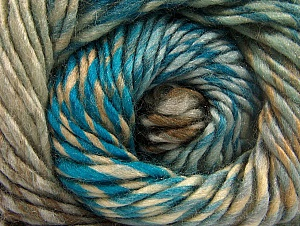 Fiberinnehåll 70% Ull, 30% Akryl, Turquoise, Brand ICE, Grey, Brown Shades, Yarn Thickness 5 Bulky  Chunky, Craft, Rug, fnt2-58445