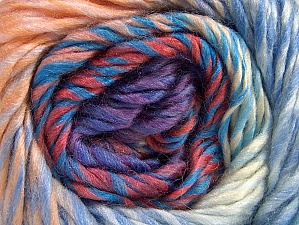 Fiber Content 70% Wool, 30% Acrylic, Salmon Shades, Lilac, Brand ICE, Blue, Yarn Thickness 5 Bulky  Chunky, Craft, Rug, fnt2-58447