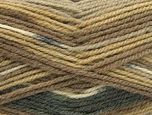 Fiber Content 50% Wool, 50% Acrylic, Brand ICE, Grey, Cream, Brown Shades, fnt2-58451