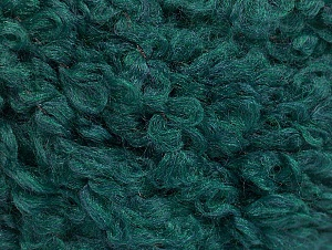 Fiber indhold 9% Uld, 80% Akryl, 11% Polyamid, Brand ICE, Emerald Green, Yarn Thickness 5 Bulky  Chunky, Craft, Rug, fnt2-58506