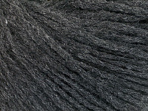 Fiber Content 50% Acrylic, 50% Wool, Brand ICE, Anthracite Black, Yarn Thickness 3 Light  DK, Light, Worsted, fnt2-58521