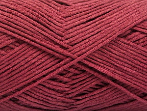 Состав пряжи 67% Хлопок, 33% Полиамид, Brand ICE, Burgundy, Yarn Thickness 2 Fine  Sport, Baby, fnt2-58543